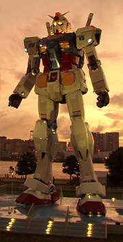 La statue du Gundam,  à Tokyo en 2009